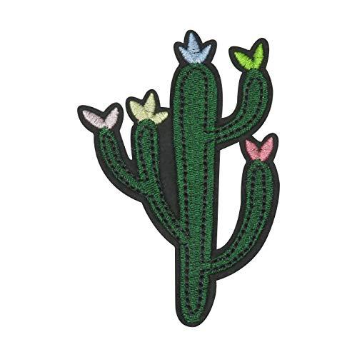 Finally Home Grüner Kaktus mit Herzen Bügelbild Patch zum Aufbügeln | Patches, Aufbügelmotive