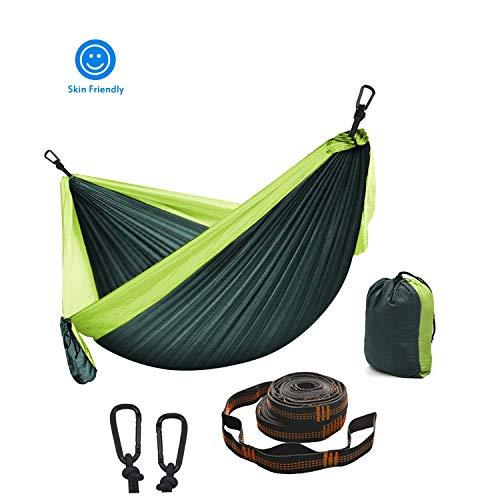 XXJF Hamaca De Viaje 2 X Mosquetones Premium, 2 X Eslingas De Nylon Hamaca Que Acampa Nylon De Paracaida Ligera Portatil Ideal para Viaje Jardín, Camping
