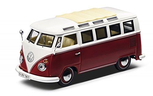 Originele Volkswagen modelauto T1 Samba bus rood/crème 1:43