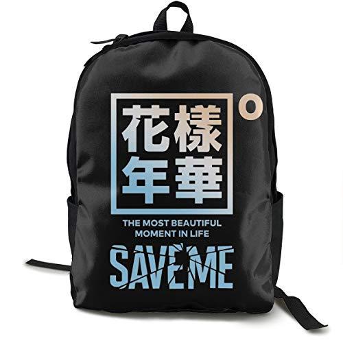 N / A Bangtan Boys (BTS) Paket Klassischer Rucksack Schultasche Schwarze Tasche Arbeitsreise Zur Polyester Unisex Schule