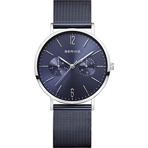 BERING dames analoog kwarts horloge met roestvrij stalen armband 14236-303