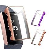 CAVN Schutzhülle Kompatibel mit Fitbit Charge 3 /Charge 4 Schutzfolie Hülle (2-Stück), Flexibles TPU Superdünner Vollschutz Gehäuse Bumper Stoßfestes Bildschirmschutz Schutz Hülle für Charge 3/Charge 4