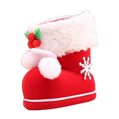 LPxdywlk Navidad Santa Botas Zapato Candy Bolsa De Regalo Árbol De Navidad Colgante Adorno Decoración Festival...
