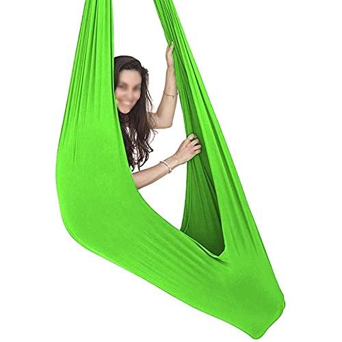 Sedia Sospesa Ad Altalena, Swings for Home Indoor, Hammock Swing con Accessori per Montaggio, Swinggle Swing Ideale per Autism, ADHD(Size:150x280cm/59x110in,Color:Erba Verde)