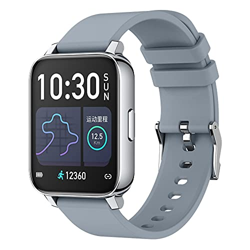 ALLCALL P36 Smart Watch GPS Uomo Donna 1.69 Pollici Full Touch Fitness Tracker IP68 Impermeabile per Android IOS-Grigio