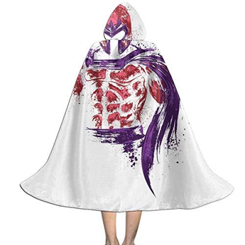 KUKHKU X Herren Magneto mit Kapuze, für Halloween, Weihnachten, Party, Dekoration, Rolle, Cosplay, Kostüme