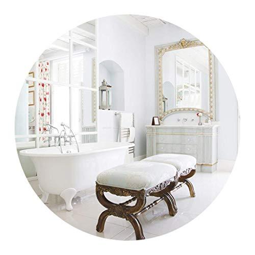 DCLINA Espejo Maquillaje Espejo Redondo Montaje en Pared, Espejos Maquillaje Vidrio flotado sin Marco Modernos, para Pasillo, Sala Estar, Accesorios baños Dormitorio, decoración del hogar