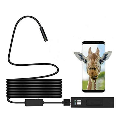 Inspektionskamera MASO IP67 Wasserdichte Wireless HD 1200P Endoskop-Kamera mit einem kleinen Haken, WiFi-Box Saugnapf, 8 LED-Lichter, Kabellänge 1-2 m, schwarz