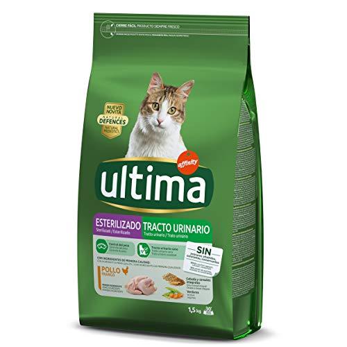 ultima alimento para Gatos esterilizados y tracto urinario con Pollo Bolsa 1.5 Kg