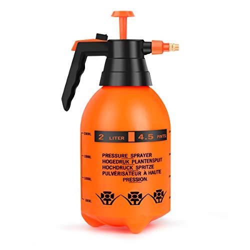 Beewarm Pump Sprayer Garden Sprayer 67.63-Ounce Plant Mister Bottle 2 Liter Water Spray Bottle for Cleaning Solution in Lawn
