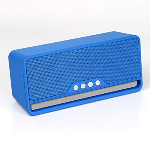 ZJHNZS Altavoz Bluetooth Altavoz inalámbrico Bluetooth subwoofer Ebay Mini teléfono móvil Tarjeta multifunción Fabricantes de Audio Especiales, Azul