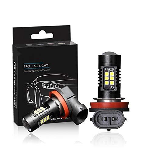 MCYAW 2 unids H8 H11 LED HB4 9006 HB3 9005 Niebla de Niebla Bombilla 3030SMD 1200LM 6000K Coche Blanco Que Conduce la lámpara de ejecución Auto Leds LED 12V 24V