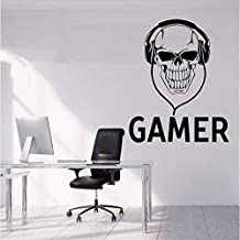 Muursticker speler sticker doodshoofd videospel ge...