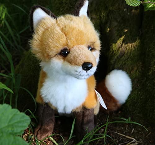 Uni-Toys - Rotfuchs klassisch - 27 cm (Höhe) - Fuchs, Waldtier - Plüschtier, Kuscheltier, braun, weiß, HW-79025
