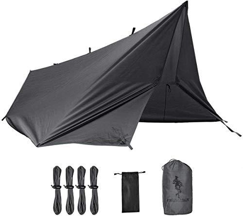 Free Soldier Tarp waterdicht 3 m x 3,2 m tarp ultralicht tentzeil UV-bescherming camping zonnezeil tent vrije multifunctioneel grote tarp voor kamperen, wandelen, outdoor-activiteiten