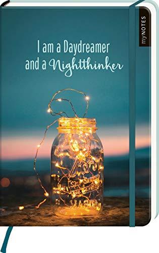 myNOTES Notizbuch A5: I am a Daydreamer and a Nightthinker: Notebook medium, dotted - für Träume, Pläne und Ideen / ideal als Bullet Journal oder Tagebuch