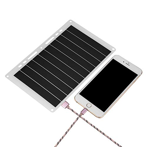 Richer-R Pannello Solare, Portable 10W 2000mAh USB Solar Panel Mobile Power Charger Caricabatterie da Esterno per Il Telefono