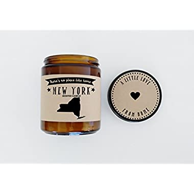 New York Scented Candle Missing Home Homesick Gift Moving Gift New Home Gift No Place Like Home State Candle Thinking of You Valentines Day Gift
