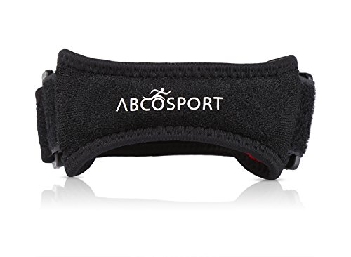 Patella Knee Strap for Knee Pain Relief for Hiking, Soccer, Basketball, Volleyball & Squats (1 Piece), Black