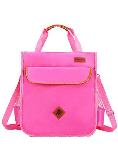 Jungen Handtasche Schulrucksack Schultertasche Schultasche Schulranzen Freizeitrucksack für Jugendliche Pink Einheitsgröße