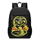 Yuantaicuifeng Cobra Kai Karate Dojo Mochila Informal para Ordenador portátil Mochila Ligera de Viaje Amplia y Abierta para Volver a la Escuela para Mujeres y Hombres