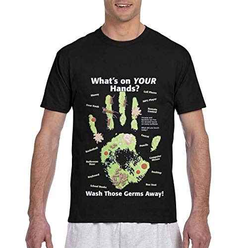 Coro-navi-rus Men's T Shirts Novelty Adult 3D Print Short Sleeve Shirt for Teen Boys Men Crew Neck Small