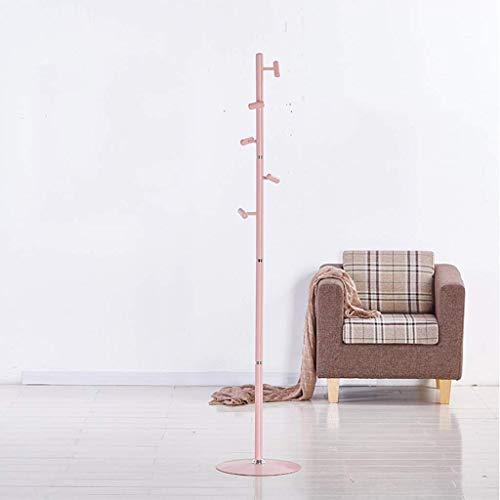 JFFFFWI Perchero, Perchero, Perchero Creativo Perchero, árbol de Abrigo, árbol de Pasillo Independiente, Ropa, Sombrero, Bolso, Rosa (174 * 36 cm) (Color: Rosa)
