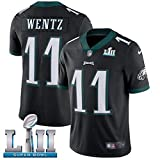 JUNBABY Camiseta De Rugby,Carson Wentz #11 Philadelphia Eagles,Camisetas Fútbol Super Bowl Hombres-blackB-S