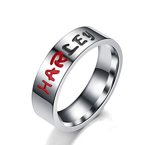 Zhenwo Joker Harley Pair of Stainless Steel Ring Titanium Steel Letter Red,Rot,9