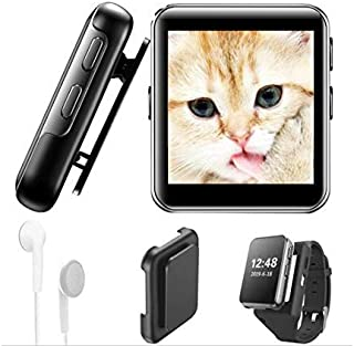 Mini Clip Bluetooth4.2 MP3 Player 16GB 1.5inch Full Touch Screen HiFi Lossless Music Player with FM Radio, Recorder, Back ...