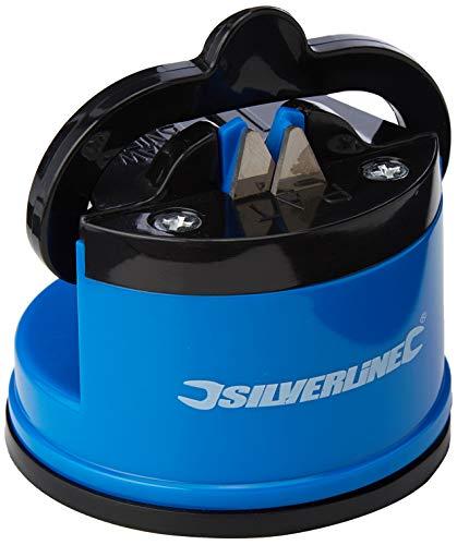 Silverline 270466 - Afilador de cuchillos con ventosa 60 x 65 x 60 mm