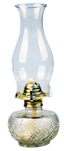 Mayflower Products Vintage Glass Oil Lamp (Large)
