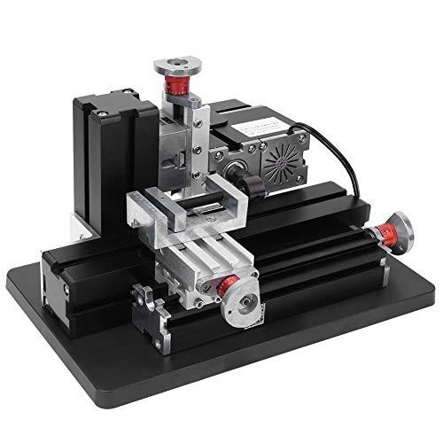 Fresadora de Metal 60WMini, Mini Fresadora Horizontal de Alta Potencia TZ20005MM para Procesar Madera, 100-240V, 12000RPM