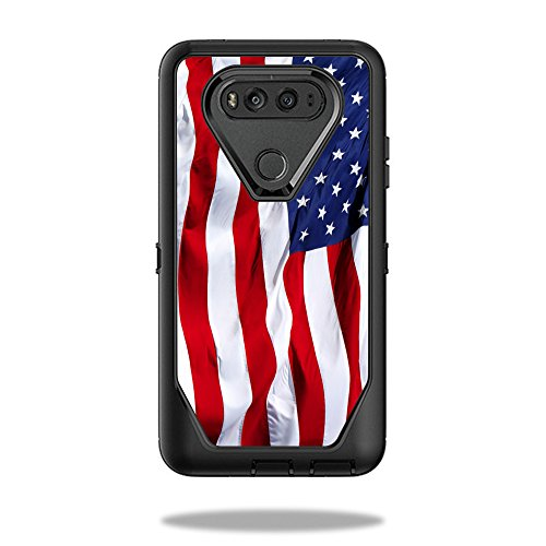 MightySkins Skin Compatible with OtterBox Defender LG V20 Case wrap Cover Sticker Skins American Flag