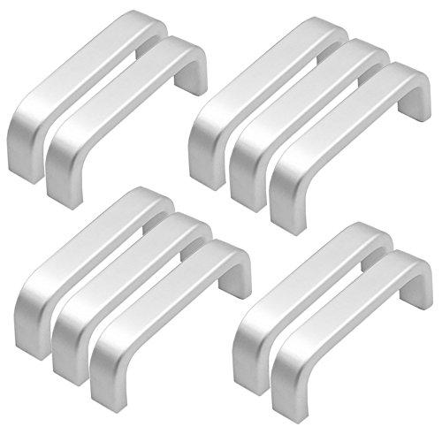 10x Mini Tiradores de barra de Aluminio, Cajón De Armario Armario Manillas Tiradores Puerta (64mm)