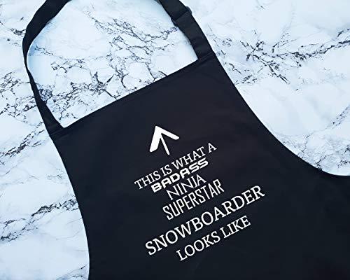 Alicert5II Dit is wat een bad snowboarder er uitziet als schort cadeau koken bakken BBQ voor snowboarden snowboard snow Sports Instructor Coach