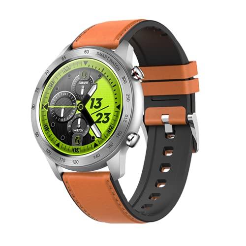 ZRY Reloj Inteligente para Hombres Y Mujeres MX5 Monitoreo del Sueño con Ritmo Cardíaco Bluetooth Call Music Player Pedómetro Reloj De Seguimiento De Movimiento para Android iOS,A