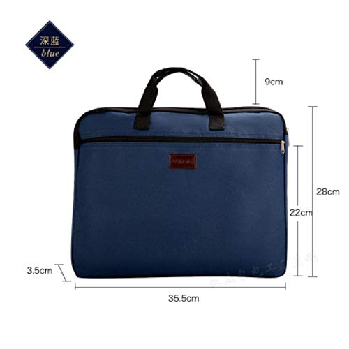 Robuuste A4 documenttas aktemap tas met draaggreep ritssluiting korte business Travel Man handtas rood zwart donkerblauw