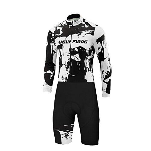 Uglyfrog Designs -Camo Bunt Sport Radsport Trikots & Shirts Lange Ärme with Kurze Beine Skinsuit+Gel PAD Herren Sommer Stil Bekleidung Flexibel Atmungsaktiv Clothes