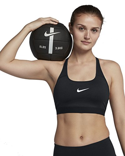 Nike Classic Strappy Soutien-Gorge Sport Femme Noir FR : XS (Taille Fabricant : XS - 65)