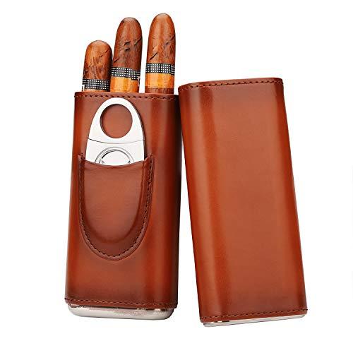 3 tragbare Humidore. Importierte Zedernholz als Futter der Humidore und Zigarrenschneider aus Edelstahl