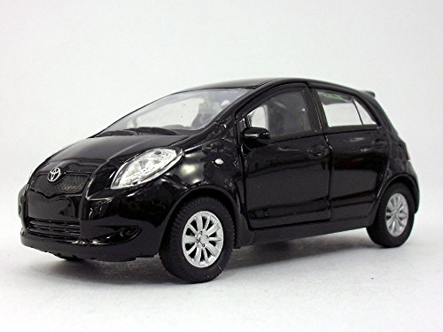 Welly 4.25 inch Toyota Yaris - 1/34 to 1/39 Scale - Diecast Model Black