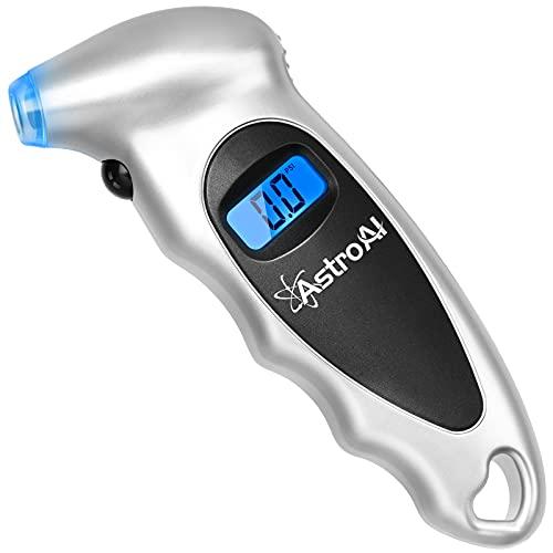 AstroAI エアゲージ タイヤゲージ 150PSI/1000kpa 精度0.1 デジタル 空気圧ゲージ 車用 自転車用 日本語使...