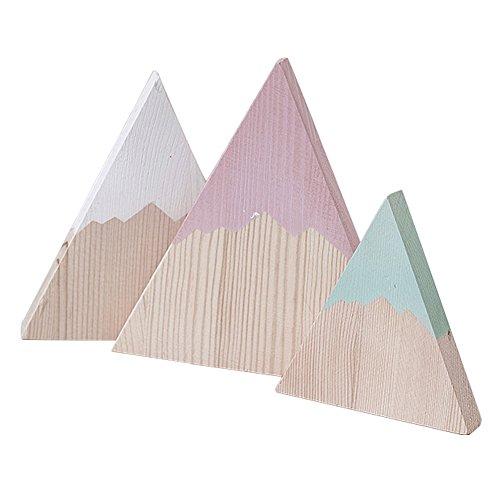 Momangel Personalidad Moda 3 Unids Ins Modelos De ExplosióN Estilo NóRdico Colinas De Madera DecoracióN del Hogar DecoracióN De La HabitacióN De Los NiñOs 3#
