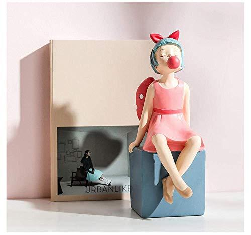Equipo de vida Esculturas Adornos Estatuas y estatuillas Estatua de hada nórdica Chica linda Escultura de personajes Artesanías creativas Decoraciones para el hogar Sala de estar Boda Regalo de cum