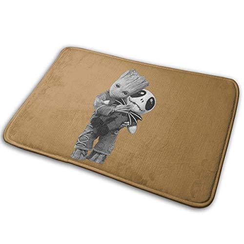 GSEGSEG Fußmatte Groot Hugs Jack Skellington Funny Inside Welcome Home Decor Fußmatten saugfähige Matten Teppich Teppich