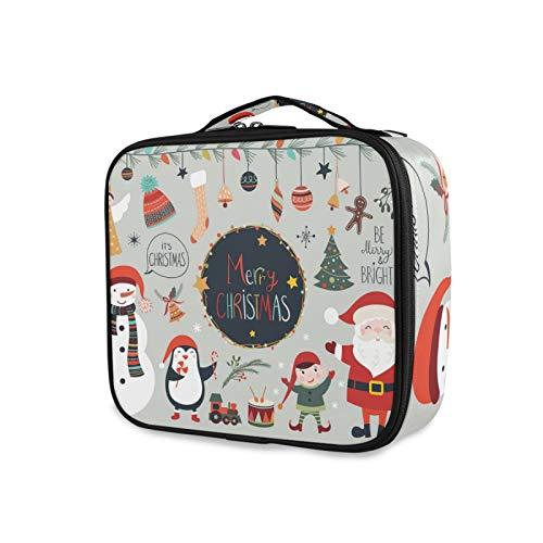 iRoad - Bolsa de maquillaje personalizable para regalo de Navidad, con compartimento ajustable, bolsa de aseo grande para hombres y mujeres