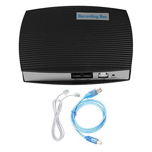 Demeras Caja de grabación telefónica Teléfono USB de 1 Canal Grabador de línea Fija Monitor de Registrador telefónico Activado por Voz