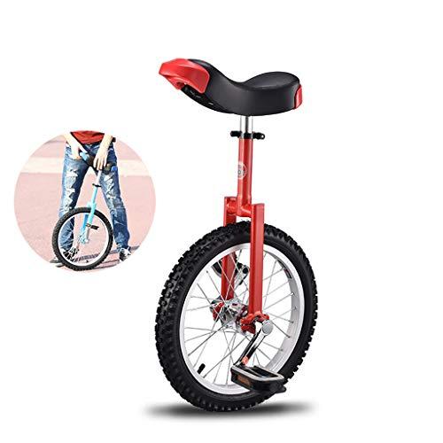 LIfav 16 Zoll Einrad, Einzelnes Rad Gleichgewicht Fahrrad, Reise, Acrobatic Auto, Outdoor Sport Fitness, Von 1,2 Bis 1,5 Metern Geeignet Für Menschen,Rot