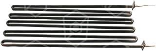 palux Radiador para plancha Longitud 440mm 230V 1600W Ancho 145mm Altura 28mm con 5curvas y longitud de cable 1140mm